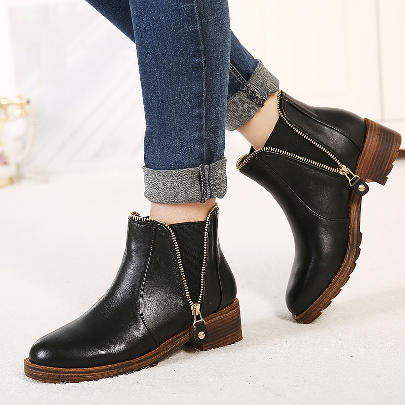 Cheap black ankle boots, Buy Quality ankle boots directly from China fashion ankle boots Suppliers: Hot sale Women Boots New Fashion Shoes Woman Genuine Leather black Ankle Boots Winter Warm Wool Snow Square heel Boots Enjoy Free Shipping Worldwide! Limited Time Sale Easy Return/5(59).