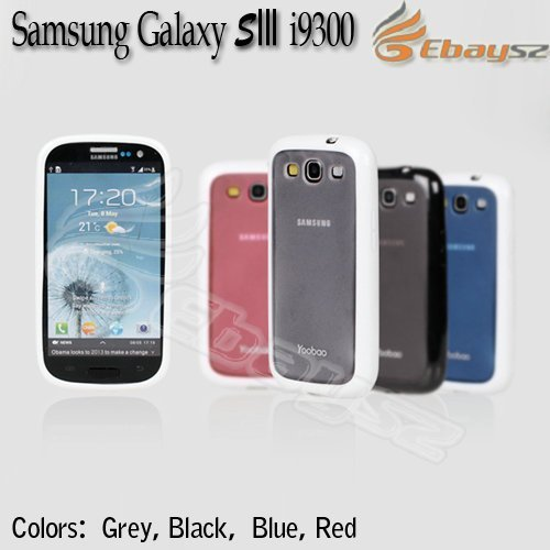 A-Free Shipping  10Pcs/Lot  Yoobao Double Color Hard Back Case Cover For Samsung Galaxy SIII S3 i9300 LF-1395