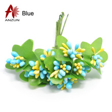 100pcs double colour Artificial flower stamen pistil for gift box Wire Stem Mulberry party Head jewelry accessories(China (Mainland))