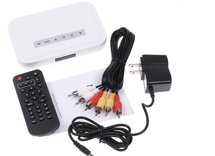 20pcs/lot 2016 NBOX RMVB RM MP3 AVI MPEG Divx HDD TV USB SD Card Media Player Nbox media player Remote(China (Mainland))