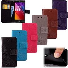 Flower Pattern Leather Phone Case ASUS Zenfone 2 Laser ZE550KL Luxury Wallet Flip Cover Coque - shenzhen Cassby Company Store store