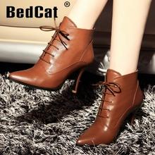 Envío gratis tobillo natrual cuero genuino verdadero botas de tacón alto mujeres nieve zapatos de la bota R4559 tamaño del EUR 34-39(China (Mainland))