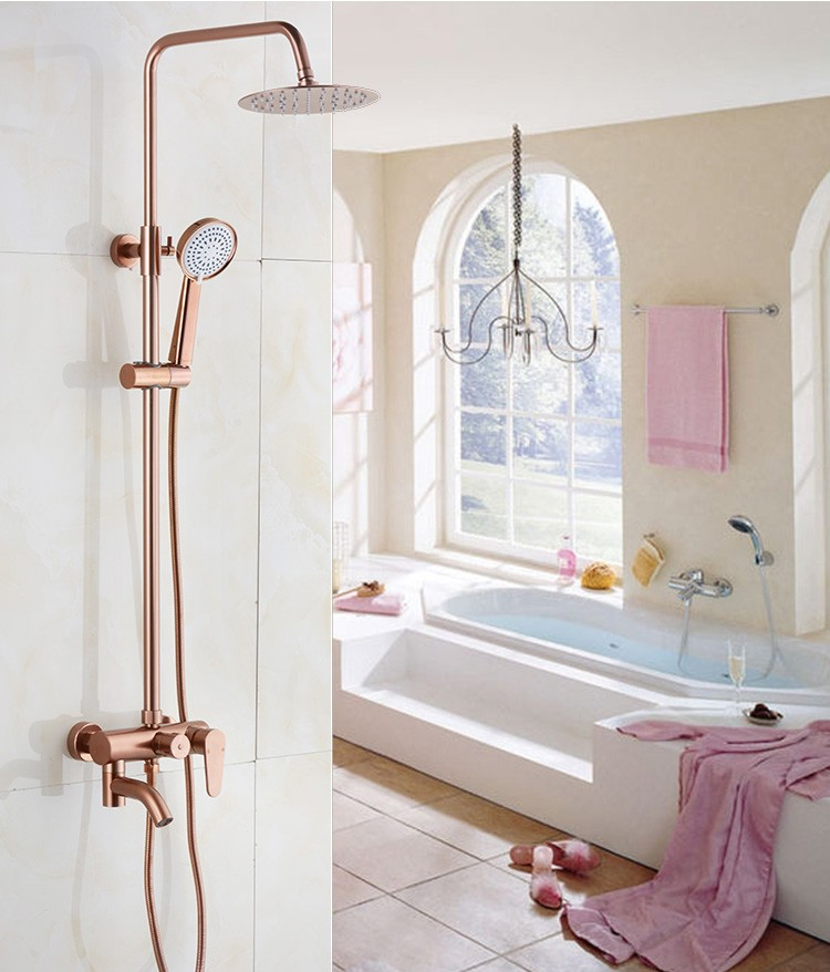 Back To Search Resultshome Improvement Dofaso Full Copper Bathroom Shower Faucets Systems Luxury White And Golden Rain Shower Panel Nozzle Sets Gold Shower Taps Bathroom Fixtures