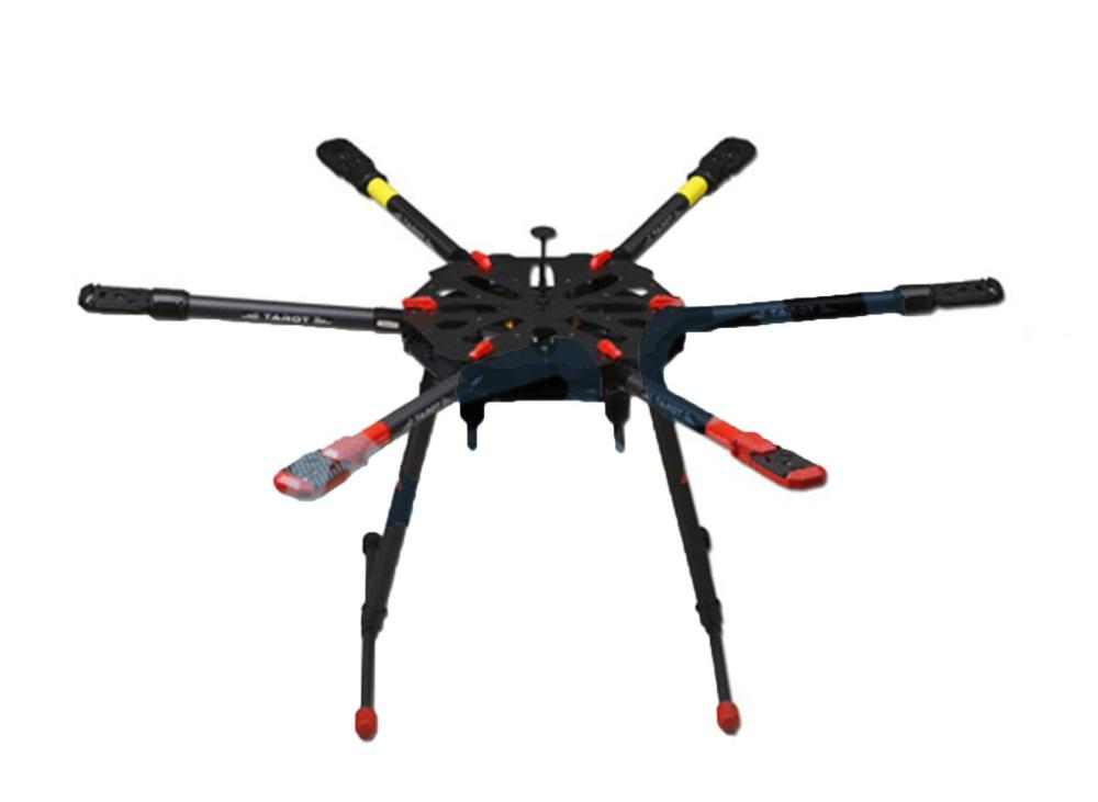 Tarot X6 TL6X001 6 axle Umbrella Carbon Foldable Hexacopter Frame Kit + Electronic Landing Skid Gear for RC Drone FPV(China (Mainland))
