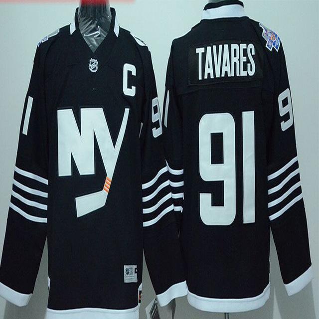 John Tavares Jersey 2016 Stadium Series Men's NY Islanders #91 John Tavares Home Blue Stitched Embroidery Ice Hockey Jerseys(China (Mainland))