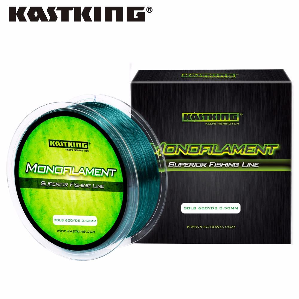 KastKing 550M 4LB-30LB 100% Nylon Fishing Line 5 Colors Ultrathin and Strong Monofilament Fishing Line for Sea Fishing(China (Mainland))