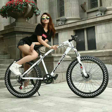 20''/ 26'' Inch Fat Bike / Snow Bike,4.0 Width Tire, High Carbon Steel Frame with Shock Fork, 7/21/27 Speed ,Both Disc Brakes(China (Mainland))