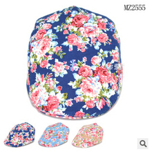 2015 Spring Autumn Cute Plaid Kid Toddler Infant Boy's Baby Girls Hat Casquette Peaked Baseball Beret Cap for 0-2T child YF-297(China (Mainland))