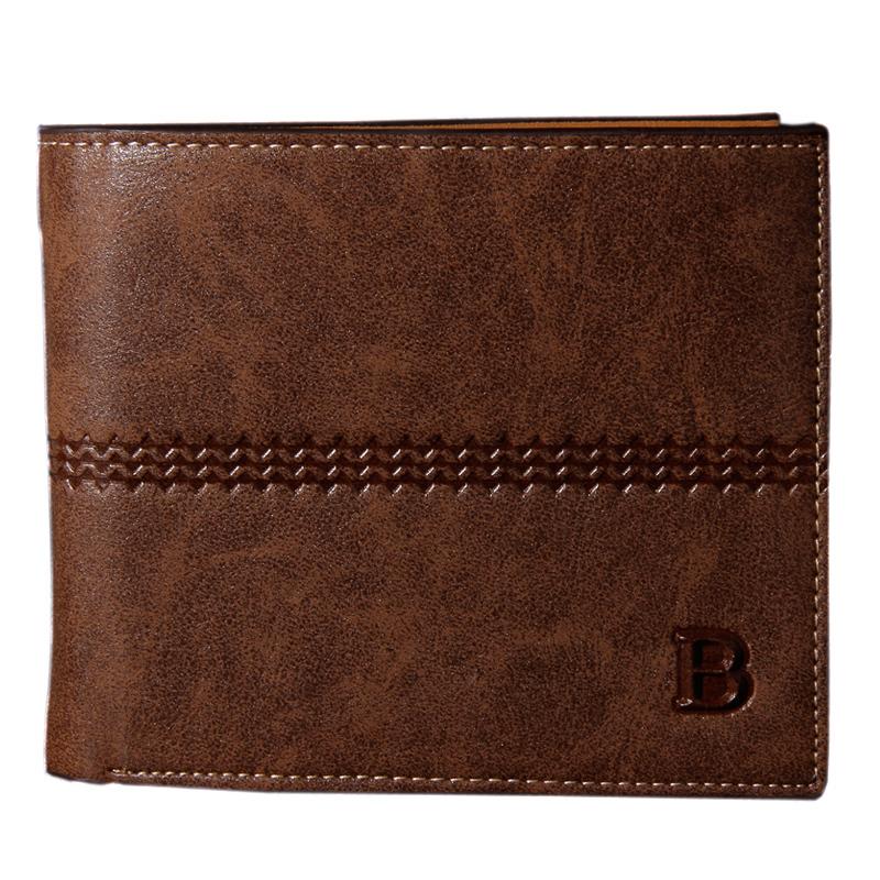 Мужчины кошельки мужские бумажник вилочная часть денежные кошельки мягкий карта чехол soild узор дизайнер бумажник