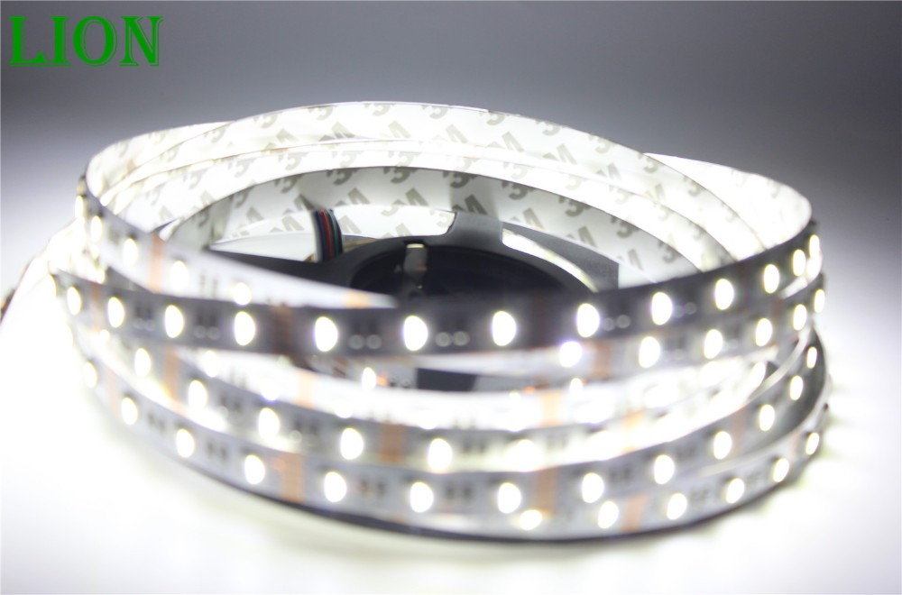 Waterproof IP20/65  LED Strip RGBW /RGBWW, SMD 5050 chip 12V flexible light RGB+White /warm white,4 color in 1 led chip,60Leds/m