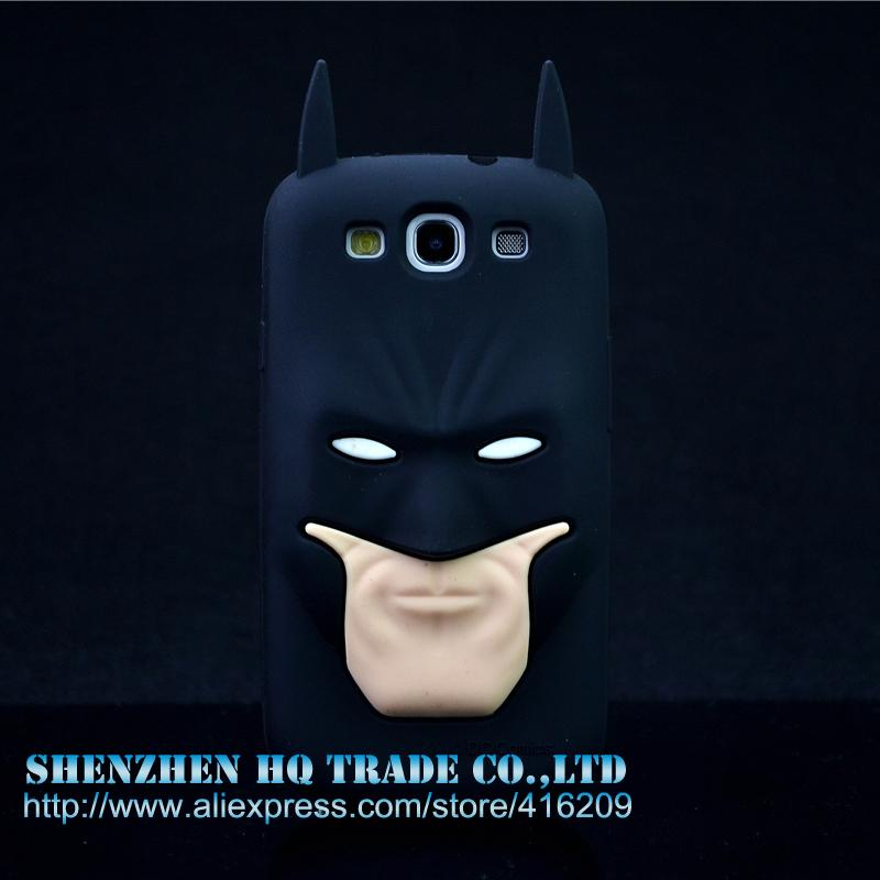 For Samsung Galaxy S3 i9300 Batman 3d Silicone Rubber Cell phone Cases Covers Phone Case(China (Mainland))