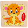 High Quality Wooden Leopard Puzzle Educational Developmental Baby Kids Training Toy Aug24