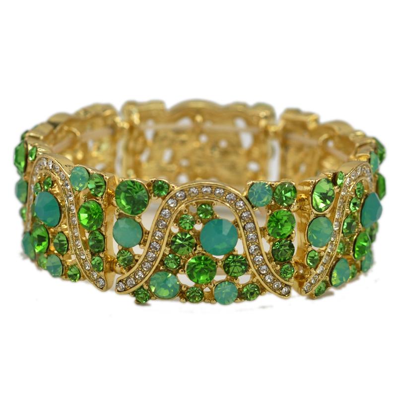 3 Colors Optional Crystal Rhinestone Girls Stretch Elastic Bracelet Women Fashion Jewelry Gift 2016(China (Mainland))