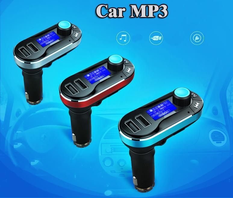 Car MP3 Player / genuine original cigarette lighter-type card machine / Dual USB Car Charger Remote control Free Shipping M5(China (Mainland))