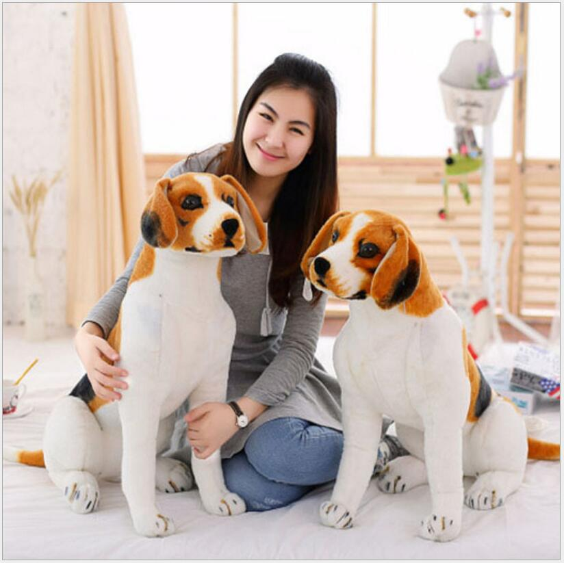 80CM Dog Stuffed Toys Plush Toy Creative simulation Doll White pattern dog home furnishings Dog animal trade For Kids Gift(China (Mainland))