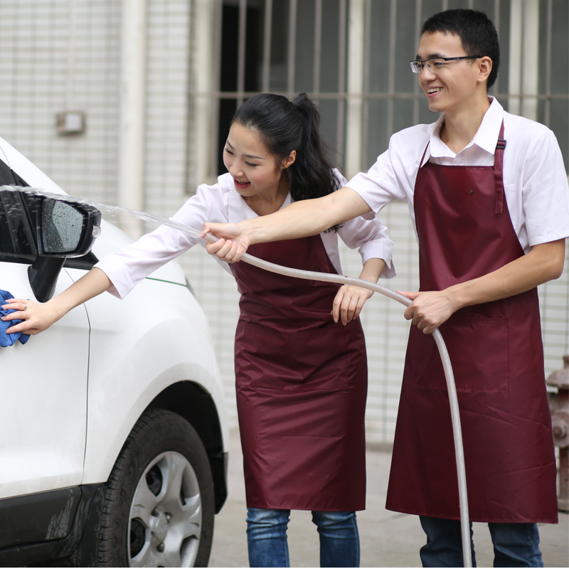 wash Car waterproof work clothes apron Restaurant Hotel kitchen aprons Men and women Common antifouling Fashion avental(China (Mainland))