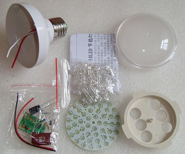 50LED energy saving lamp kit LED /220V light / white grass hat LED(China (Mainland))