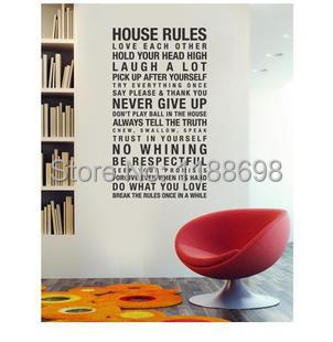 Fine and removable english proverb house rules wall 6 home decor rules to break now