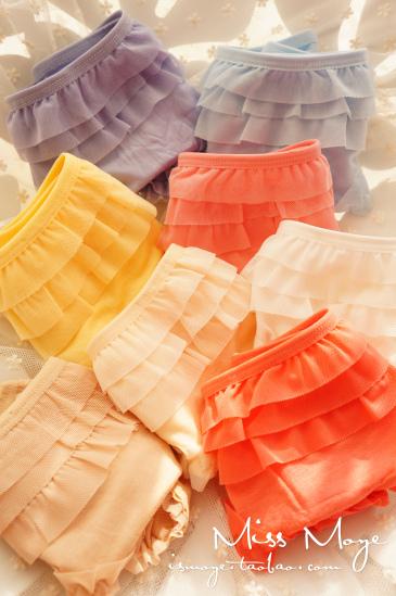 Small underwear modal lace ruffle cake pants female sistance panties 3031
