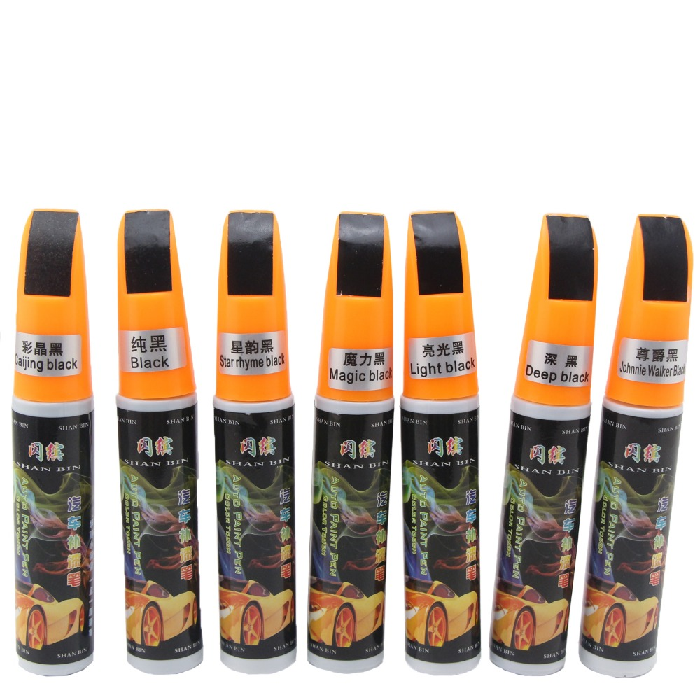Car Scratch Repair Paint Pen Black Scratch Remover Car Care Touch Up Paint Scratch Mending Fix Scratch Paint Pen Free Shipping(China (Mainland))
