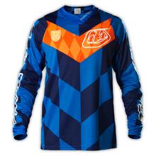 En stock! Tld Troy Lee Designs SE Jersey Checker pour moto Motocross randonnée à vélo t – shirt MX Sport bleu / gris