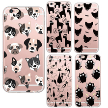 Newest Cartoon Black Cats Dogs Alpaca Cute Designs Soft Clear Crystal Phone Case Cover For Apple iPhone5 5S 6 6S Coque Fundas
