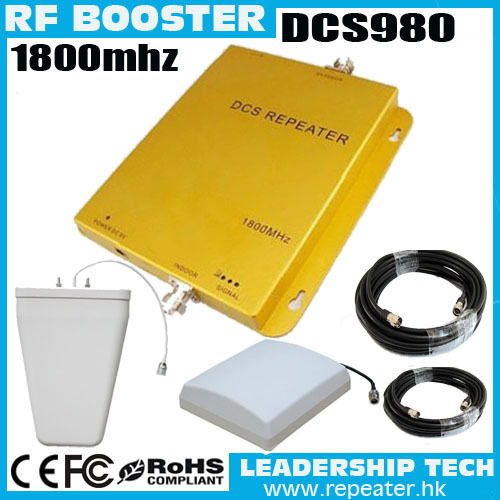 product Wholesale DCS980 1800mhz mobile phones signal repeaters with panel ceiling antenna uplink 65db down link 75db 2000 Square meters