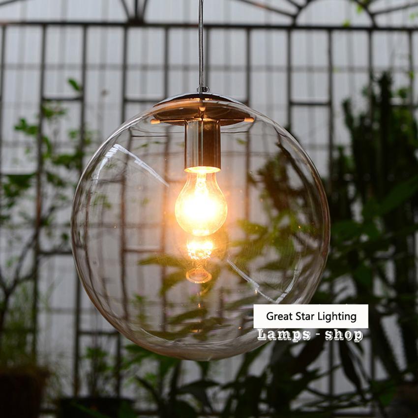 lustre boule de verre promotion achetez des lustre boule de verre promotionnels sur aliexpress. Black Bedroom Furniture Sets. Home Design Ideas