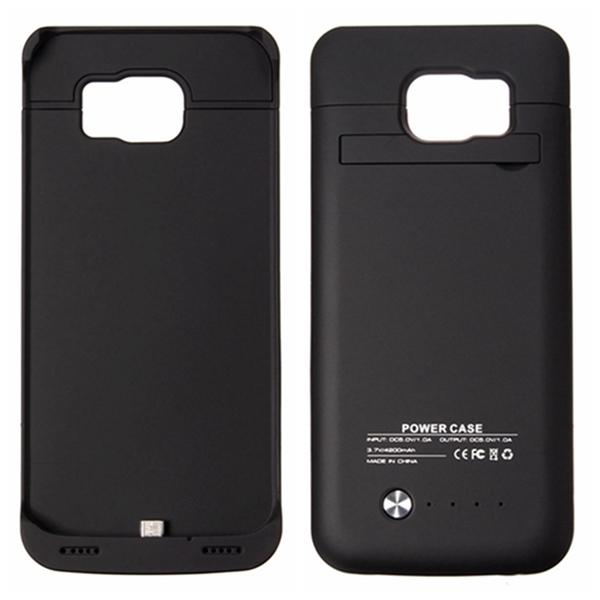 Банк силы 4200mah Чехол Внешняя батарея резервного копирования Чехол для Samsung для Galaxy С6 G9200 защитный стенд чехол