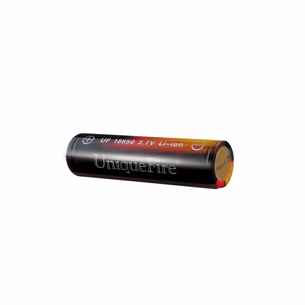 ถูก U nique fire 2ชิ้น/ล็อต3.7โวลต์/3600มิลลิแอมป์ชั่วโมง18650 Li-Ionแบตเตอรี่ท่อระบายน้ำสูงเหมาะสำหรับ18650ไฟฉายหรือบุหรี่อิเล็กทรอนิกส์กล่อง