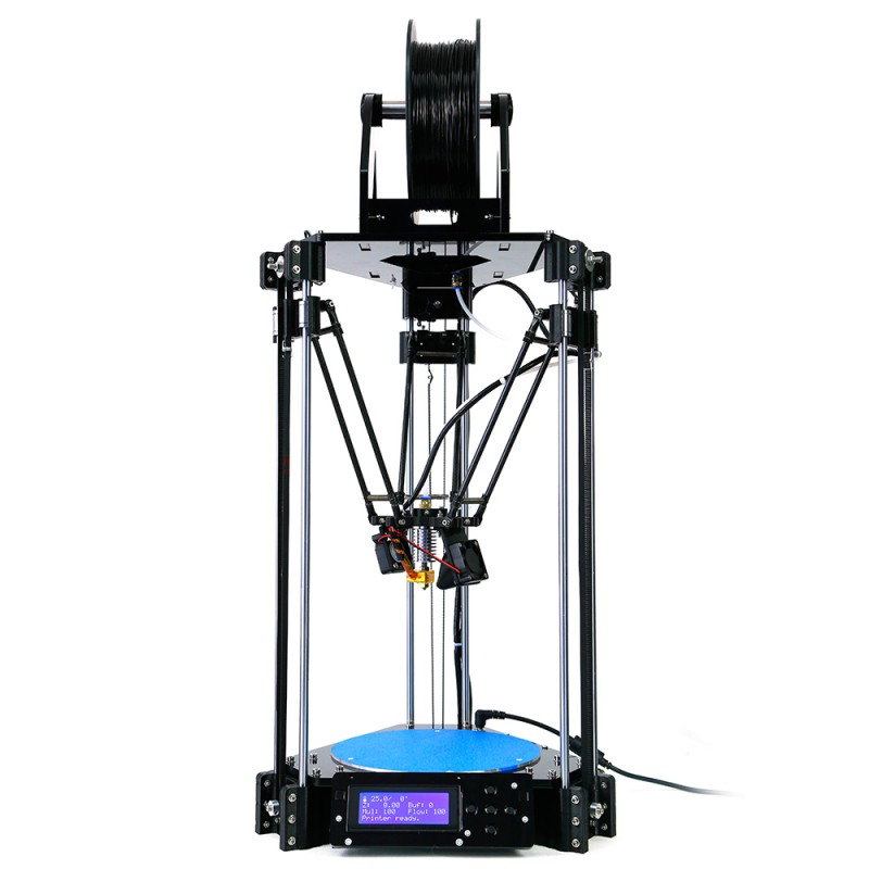 Auto leveling Delta 3D Printer Rostock RepRap Kossel Replicator Machine with LCD Controller DIY Kit Free