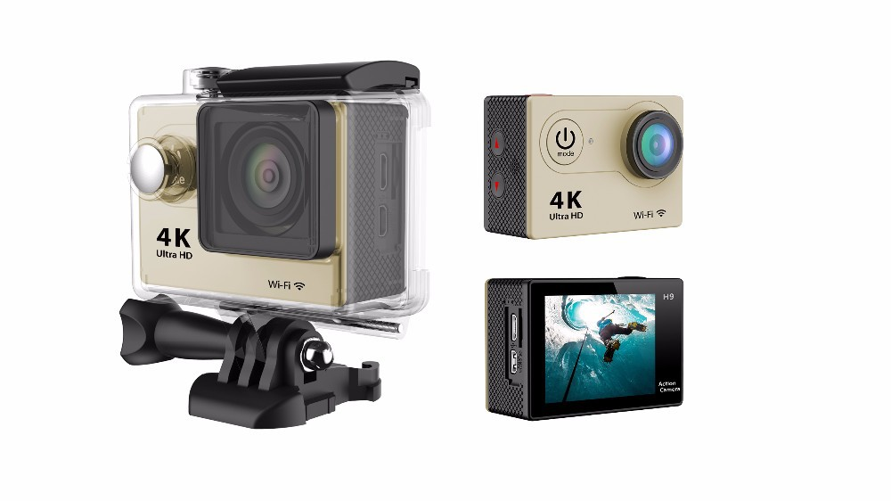 Action camera Ultra HD 4K WiFi 1080P/60fps 2.0 LCD 170D lens Helmet Cam go pro camera 4K camera add extra battery and Charger