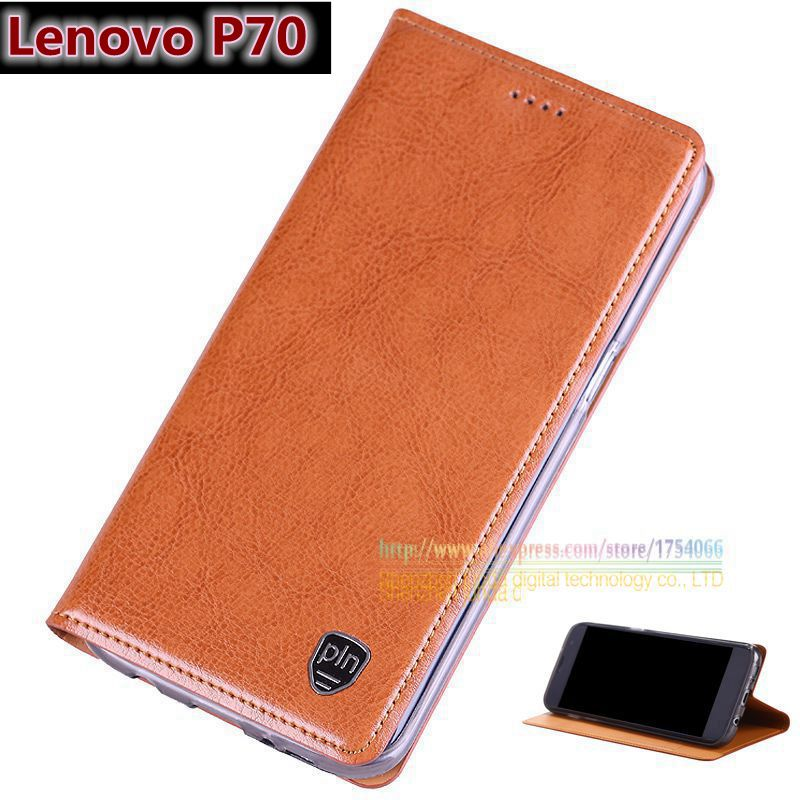"""Top Quality Genuine Leather Magnetic Stand Flip Cover For Lenovo P70T P70 T P70-T 5.0"""" Original Brand Luxury Mobile Phone Cases(China (Mainland))"""