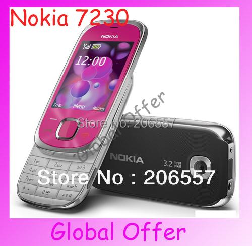 7230 Original Unlocked Nokia 7230 mobile phone 3G Camera Bluetooth MP3 Cheap Cell Phone refurbished 1 year warranty(China (Mainland))