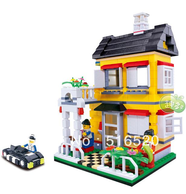 Wange city villa series Building Block Sets 390pcs Educational Jigsaw Enlighten Construction bricks toys for children No.31052