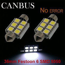 Buy 6Pcs Torpedo 36mm Canceller 6 Led Smd Canbus Lampada Efeito Xenon for $22.62 in AliExpress store