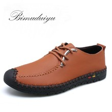 Daily Spring Summer Genuine Leather Men's Soft Flat Shoes Brand Casual Single Light Leisure Boots Daily Driving Walking Sale