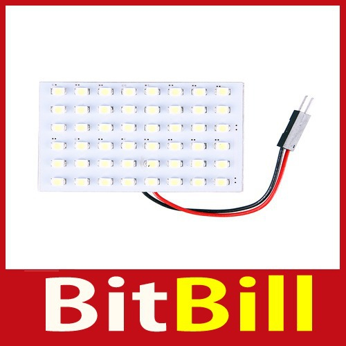 Quality! bitbill 12V 48 SMD LED Panel Car Interior Light Bulb T10 Dome BA9S Adapter White Save up to 50% Special offer(China (Mainland))