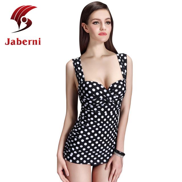2016 горошек бразильский купальник сексуальный пляж купальник росту цельный Bodycon женщины марка бинты платье