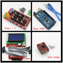 3D Printer kit- Mega 2560 R3 Microcontroller + ramps 1.4 controller 12864 LCD Panel A4988 stepper driver arduino - Creation Unlimited Store store