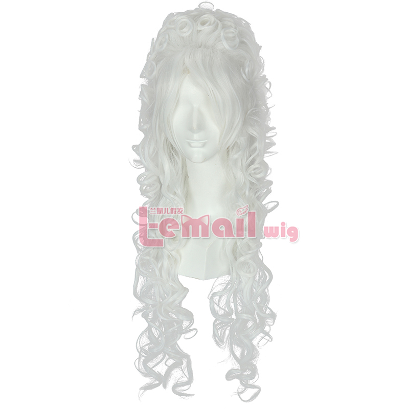 80cm long white Marie Antoinette Anime cosplay wig ZY34B costume party Christmas/Halloween
