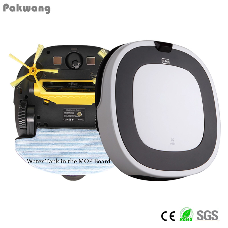 Pakwang white robot vacuum cleaner wet and dry D5501 with Remote Control,Intelligent Anti Fall automatic vacuum cleaner hot sale(China (Mainland))