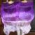 BELLY DANCE 100% SILK FAN VEILS original tie-dye purple-light purple 223