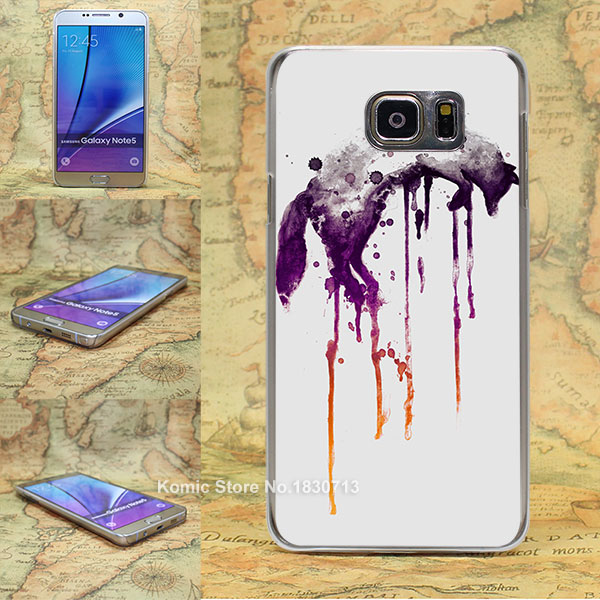 Brown Fox Pattern transparent clear hard Cover Case for Samsung galaxy note 2 3 4 5 s4 mini s6 edge+(China (Mainland))