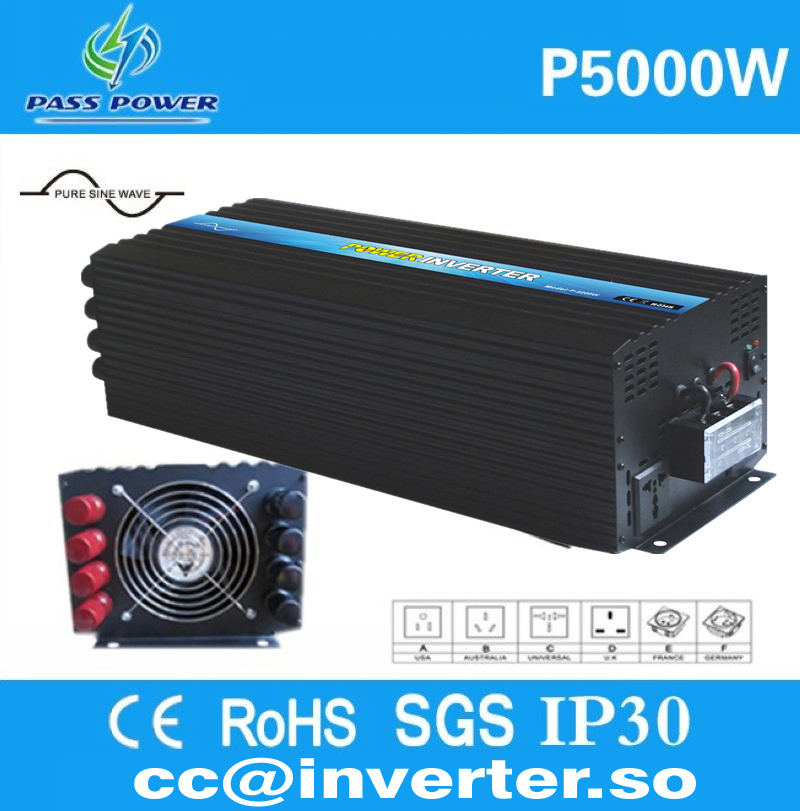 2016 Factory Directly Sell, pure sine wave power inverter 1 phase off grid, solar inverter 5000w 220v(China (Mainland))