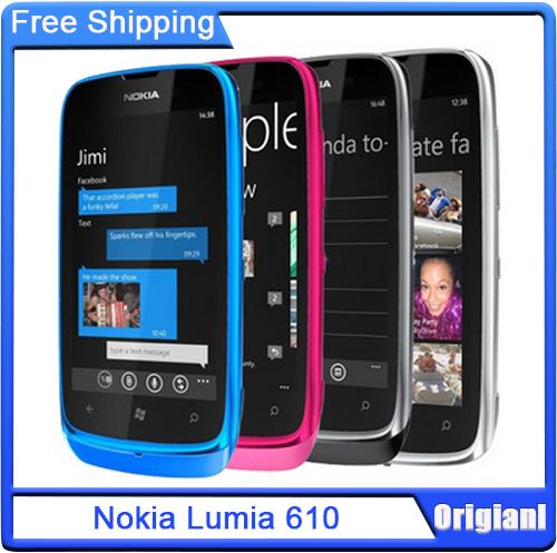 Unlocked Original Phone Nokia Lumia 610 GSM 3G WIFI GPS 3.7'' Touch Windows Phone 5MP Camera Multi-Color in Stock(China (Mainland))