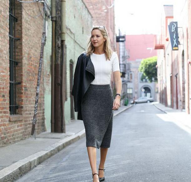 Midi Work Skirts
