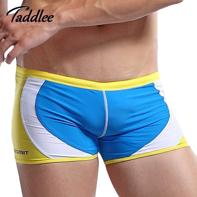 Taddlee Brand 2016 New Designed Men Swimsuits Swimwear Trunks Swim Shorts Boxer Swimming Surf Board Low Waist Gay Pouch Penis(China (Mainland))
