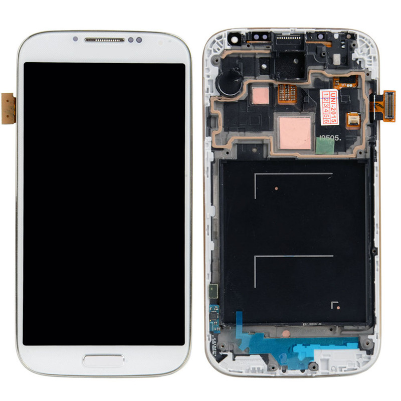 Фотография New White LCD Display Touch Screen + Frame For Samsung Galaxy SIV S4 i9505 VA137 T18 0.4