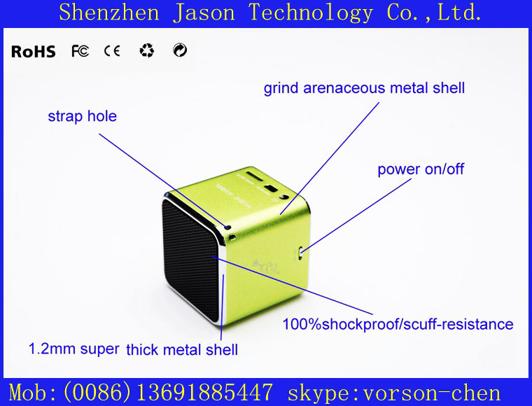 portable wireless mobile mini real sound speaker(China (Mainland))
